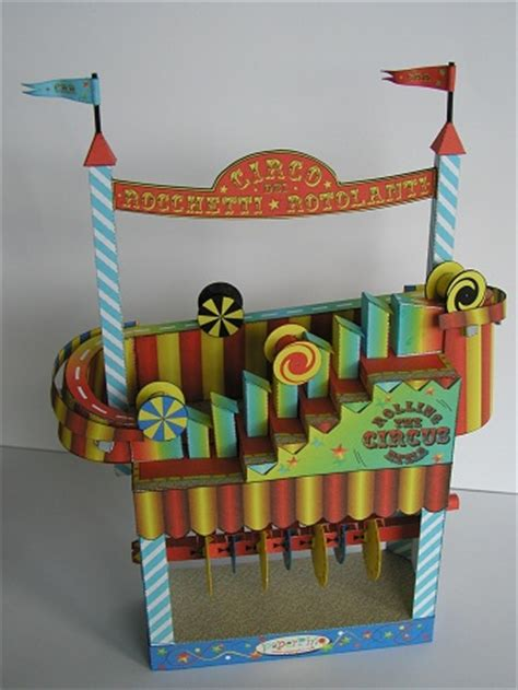 Automata Papercraft - rolling reels circus