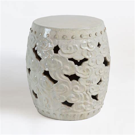 Ceramic Barrel Garden Stool white ceramic barrel cloud garden stool furniture mix