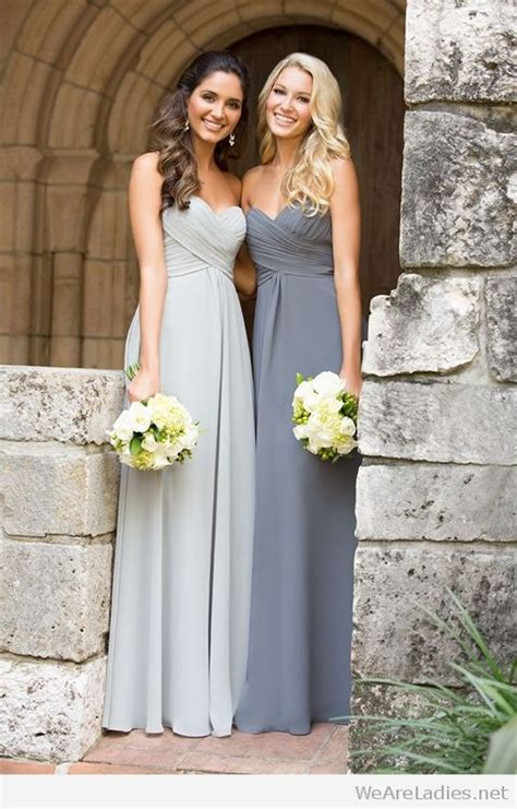 light grey dress wedding guest light and dark gray bridesmaid dresses