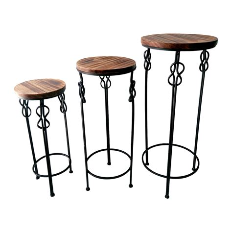 small round accent table small round wood steel knot accent table at home