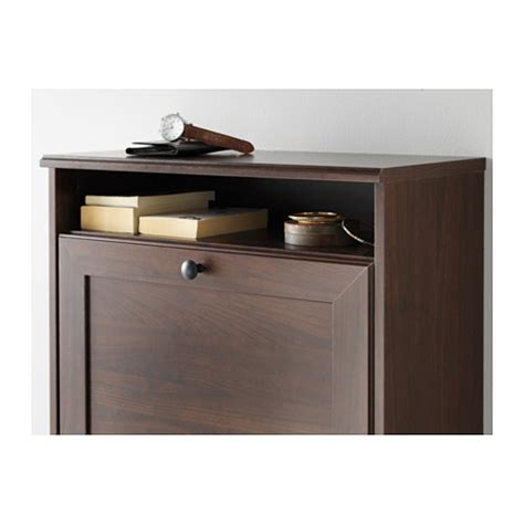 ikea brusali cabinet brusali shoe cabinet with 3 compartments brown 61x130 cm