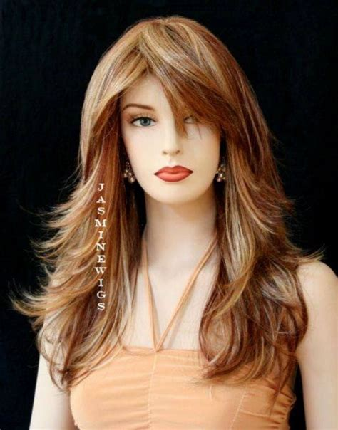 hair cuts with layers and bangs for long hair in woman over 40 layered long hairstyles with side bangs cute haircuts for
