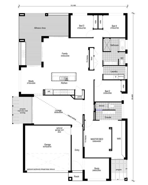 floor plan friday split level 4 bedroom study floor plan friday modern 4 bedroom study floor plans