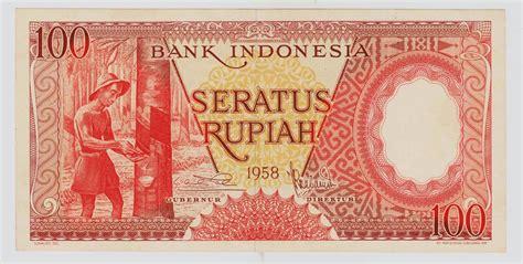 Uang Kuno Pecahan 100 Rupiah uang kuno seri pekerja tangan tahun 1958 1963 dan 1964