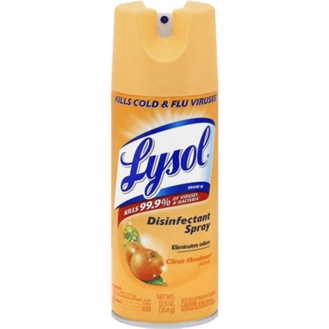shop lysol disinfectant spray citrus meadows  oz overstock