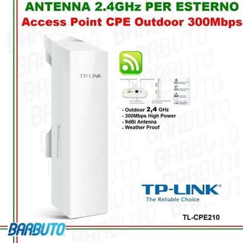 Cpe210 Tplink Cpe 2 4ghz Outdoor Access Point access point antenna wireless outdoor cpe tp link 2 4ghz high power cpe210 ebay