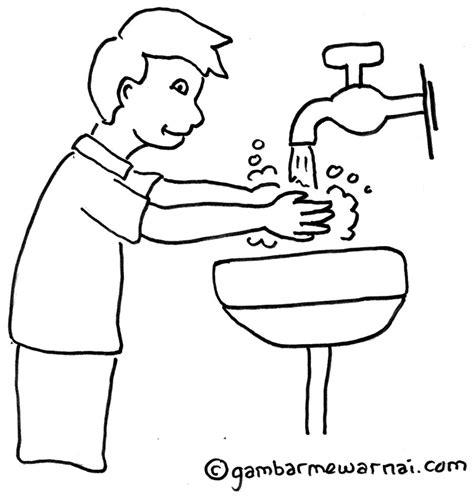 Sepatu Kerja 559 contoh gambar mewarnai anak mencuci tangan gambar mewarnai
