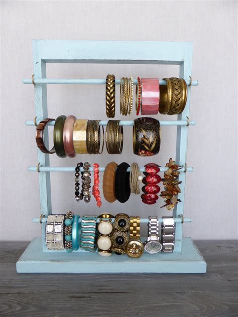 how to make a jewelry display shabby chic bracelet holder standing jewelry display