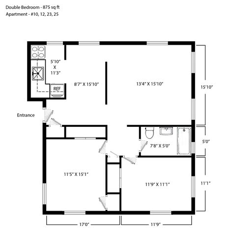 Bedroom Plans Layouts by Bedroom By Bedroom Layouts Square Foot Apartment Floor