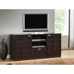 Tosato brown modern tv stand and media cabinet console storage center