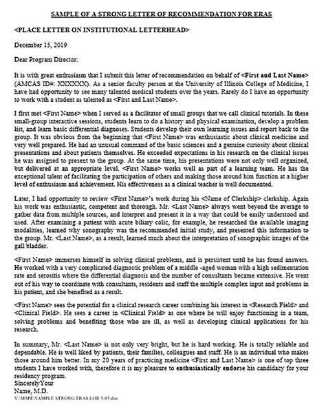 main kinds medical school recommendation letter