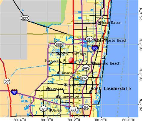 where is margate florida on map margate florida fl 33068 profile population maps
