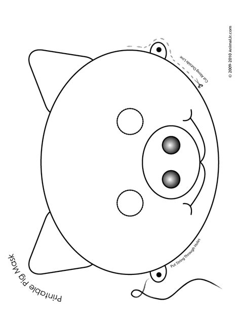 animal mask templates printable pig mask coloring page woo jr activities