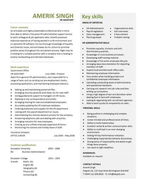 Hr Assistant Resume Samples by Hr Assistant Cv Template Job Description Sample