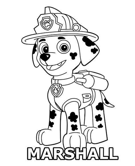 paw patrol spring coloring pages marshall coloring page paw patrol