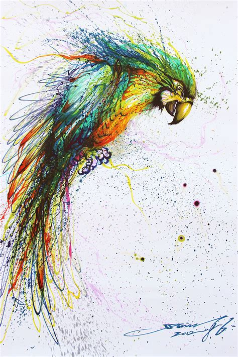 painting animals splattered ink animal paintings by artist hua tunan