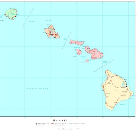 map of hi hawaii political map