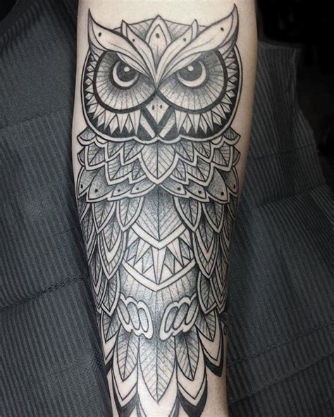 owl tattoo on forearm owl tattoos forearm creativefan
