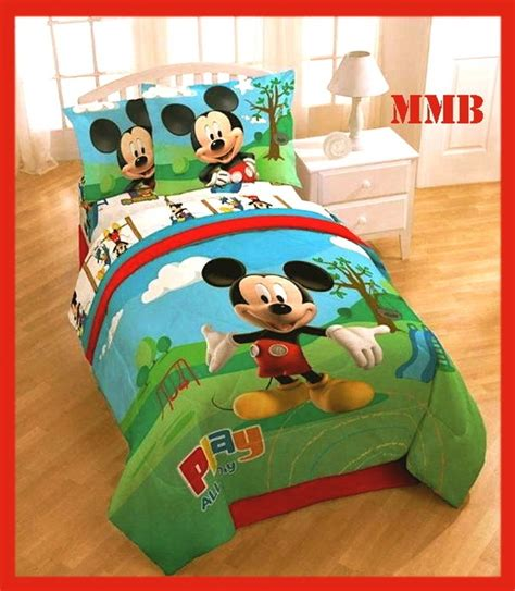 mickey mouse twin bedding 7pc twin single mickey mouse clubhouse comforter bedding