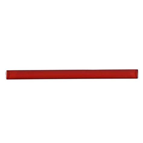 splashback tile red lipstick glass pencil liner trim wall