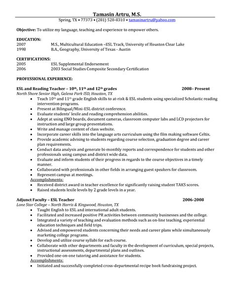 Sle Resume Objectives For Internship Position Hospital Social Worker Sle Resume Developer Cover Letter