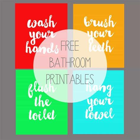 free kids bathroom printables free printable kids bathroom art