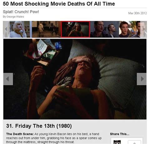 film seri friday the 13th total film ranks friday the 13th in top 50 shocking deaths