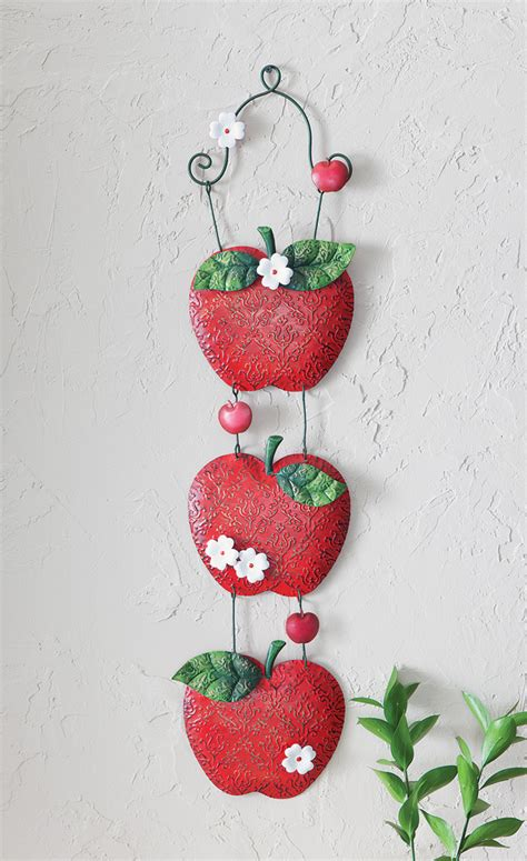Apple Decor For Home Apple Theme Kitchen Home Decor Metal Apple Treat Wall Plaque Ebay