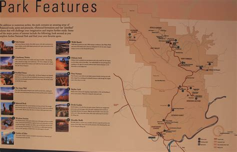 arches national park map image result for http thecheaproute img maps arches national park features map jpg