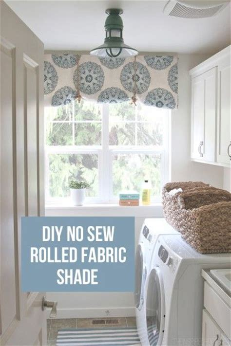how to make a no sew rolled fabric shade the inspired room i am and fabric shades