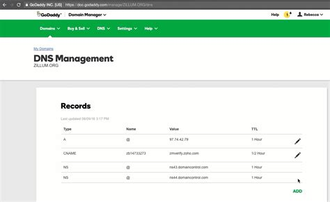 Mx Record Lookup Godaddy Dns Cname Mx For Zoho Mail