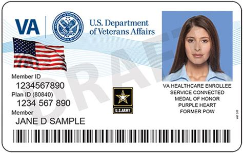 veterans administration business card template new id cards for vets enrolled in va health care