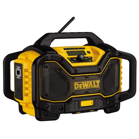 chargers radio dewalt dcr025 flexvolt bluetooth jobsite radio charger