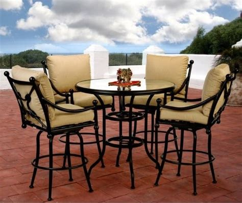 Patio Furniture Bar Height Set Bar Height Patio Dining Set Patio Design Ideas