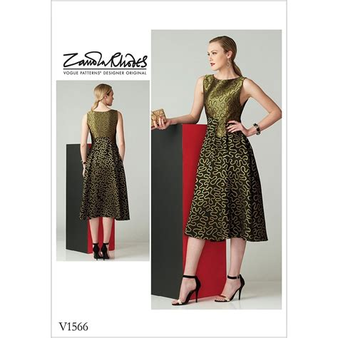 Dress Vogue misses fit and flare sleeveless dress vogue sewing pattern