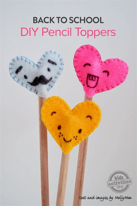 pencil topper crafts for 25 easy back to school crafts for socal field trips