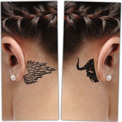 angel ear tattoo 20 great devil and angel tattoo designs entertainmentmesh