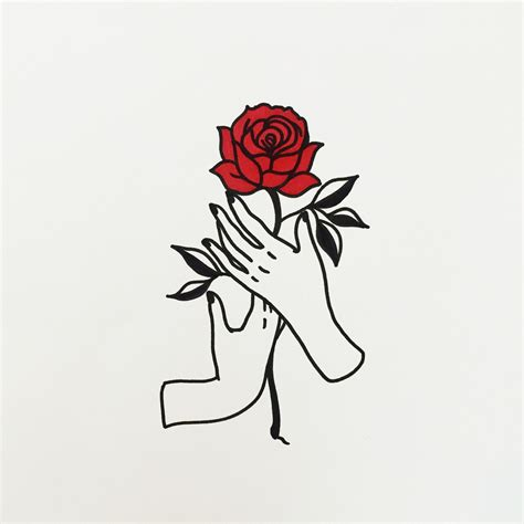 simple rose tattoo tumblr really want this as a tattoos