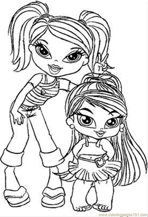 baby bratz coloring pages az coloring pages