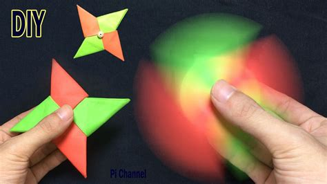 How To Make Paper Spinners - how to make a paper fidget spinner origami fidget
