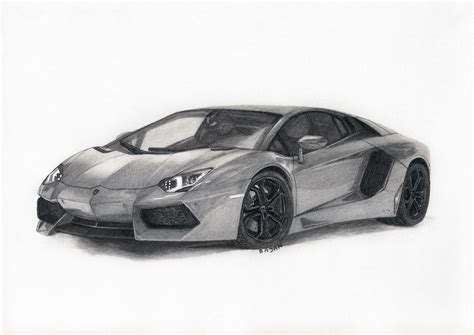 Lamborghini Drawing Lamborghini Aventador By Bajanoski On Deviantart