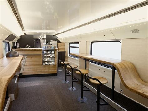 coffee shop interior design companies mobile starbucks store in a train lets you enjoy a cup of