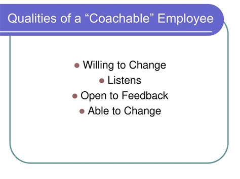 Qualities Of A Employee by Ppt Effectively Implementing A Performance Development