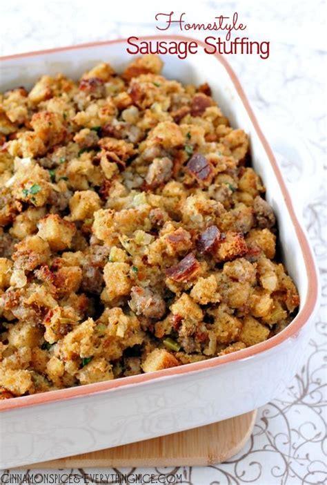 thanksgiving turkey dressing recipe sausage recipe dishmaps