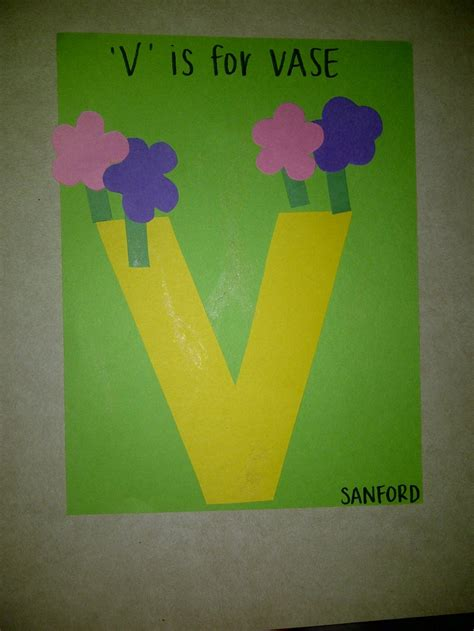 V Is For Vase by V Is For Vase Preschool Crafts