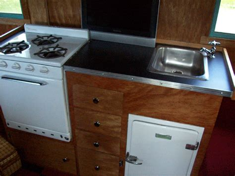 rv kitchen cabinets the complete vintage travel trailer restoration web site