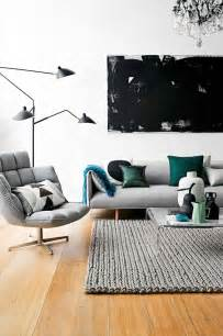 Modern Living Room Accents 30 Green And Grey Living Room D 233 Cor Ideas Digsdigs