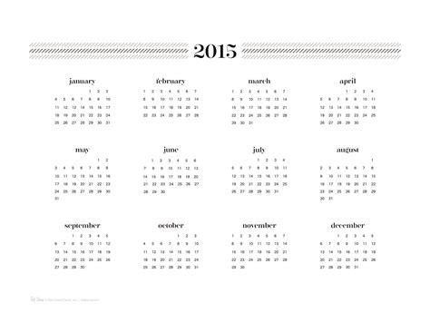 printable year at a glance calendar 2015 2015 year at a glance printable calendar page 2 new