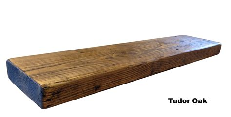 reclaimed chunky floating shelf shelves wooden ebay