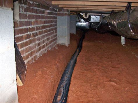 Interior Perimeter Drainage System by Crawl Space Drain System Get Water Out Of Your Crawl Space